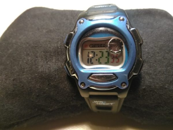 ATHLETIC WORKS BLUE & BLACK DIGITAL WATCH
